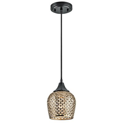Brey 1-Light Mini Pendant Shade Color: Gold