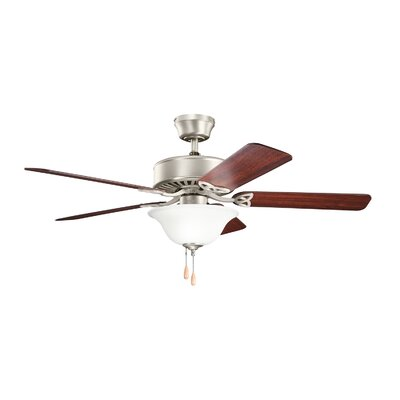 50 Renew Select ES 5-Blade Ceiling Fan Finish: Brushed Nickel with Walnut and Cherry Blades