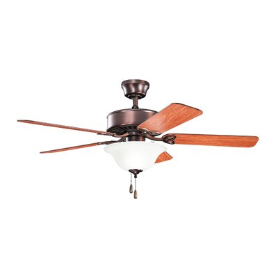 50 Renew Select ES 5-Blade Ceiling Fan Finish: Oil Brushed Bronze with Walnut and Cherry Blades