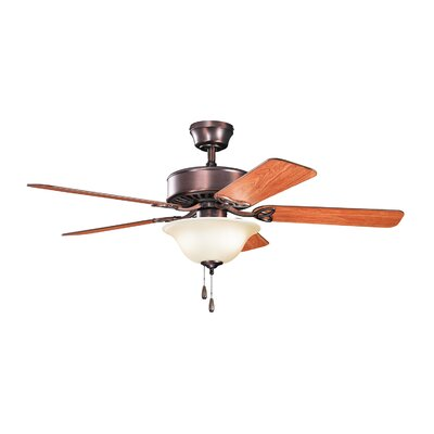 50 Borgen 5-Blade Steel Ceiling Fan Finish: Oil Brushed Bronze finish