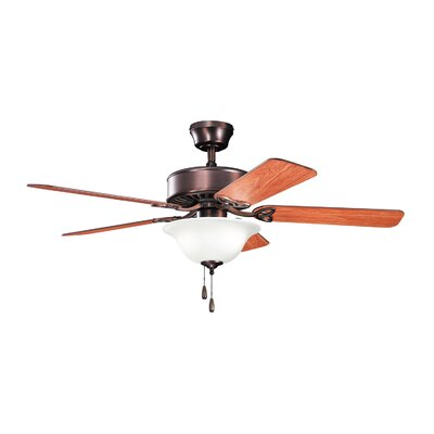 50 Borgen Traditional 5-Blade Ceiling Fan Finish: Oil Brushed Bronze with Teak/Cherry Blades