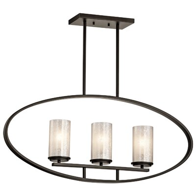 Berra 3-Light Drum Pendant