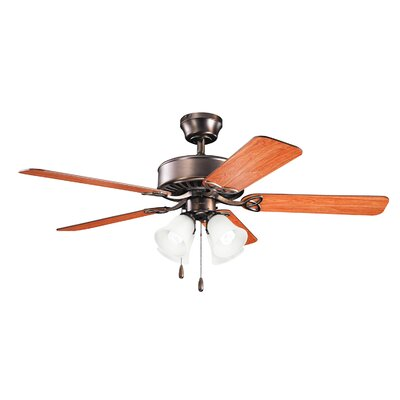 Birch Creek 50 Borgen 5-Blade Ceiling Fan Finish: Oil Brushed Bronze with Walnut and Cherry Blades