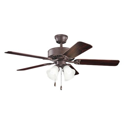 Birch Creek 50 Borgen 5-Blade Ceiling Fan Finish: Tannery Bronze with Teak and Cherry Blades