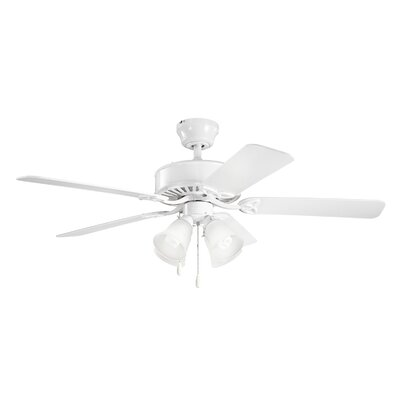 Birch Creek 50 Borgen 5-Blade Ceiling Fan Finish: White with White Blades