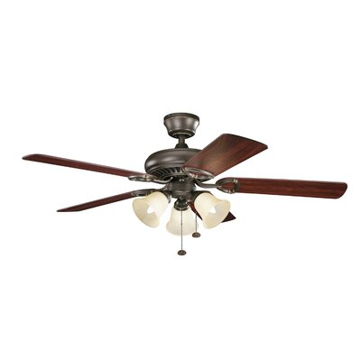 52 Sutter Place Premier 5-Blade Ceiling Fan Finish: Olde Bronze with Walnut Cherry Blades