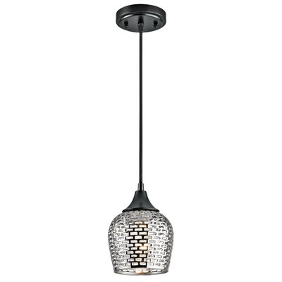Brey 1-Light Mini Pendant Shade Color: Silver