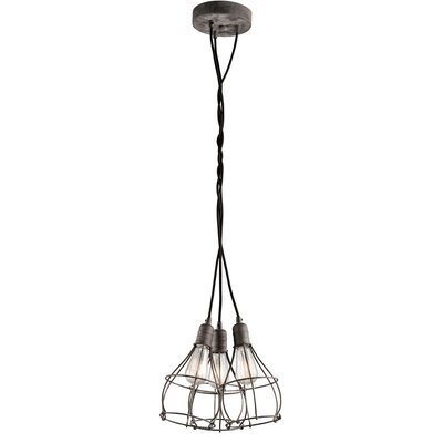 Industrial Cage 3-Light Cluster Pendant