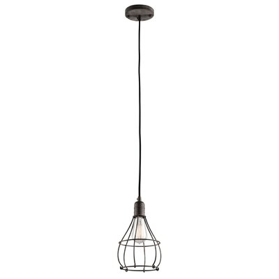 Industrial Cage 1-Light Mini Pendant