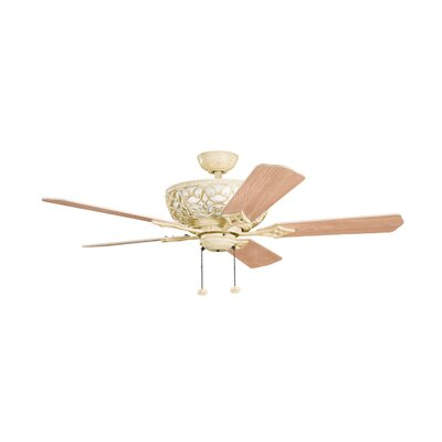 52 Cortez 5-Blade Ceiling Fan Finish: Aged White