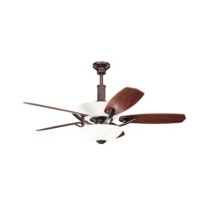 56 Palla 5-Blade Ceiling Fan Finish: Oil Brushed Bronze
