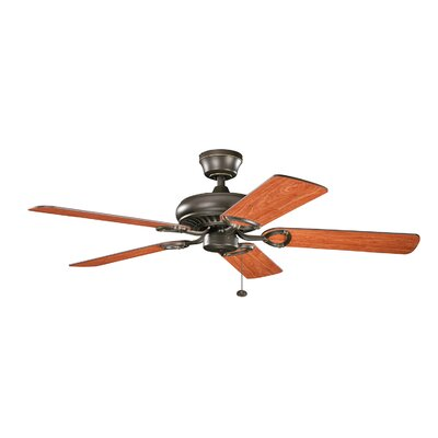 52 Sutter Place 5-Blade Ceiling Fan Finish: Olde Bronze with Walnut/Med Cherry Blades