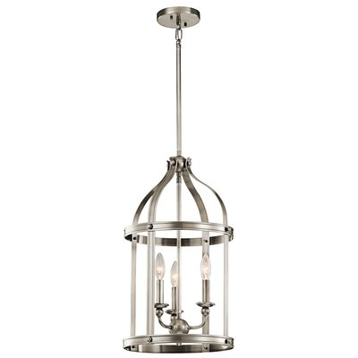 Badham 3-Light Foyer Pendant Finish: Classic Pewter