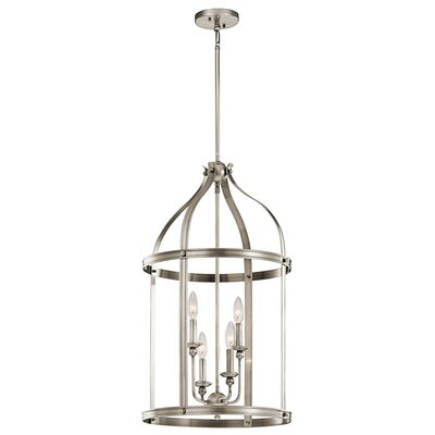Steeplechase 4-Light Foyer Pendant Finish: Classic Pewter