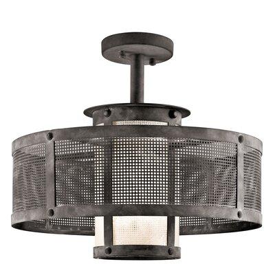 Argesto 1 Light Drum Pendant