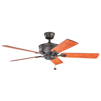 52 Duvall 5-Blade Ceiling Fan Finish: Olde Bronze with Cherry/Walnut Blades