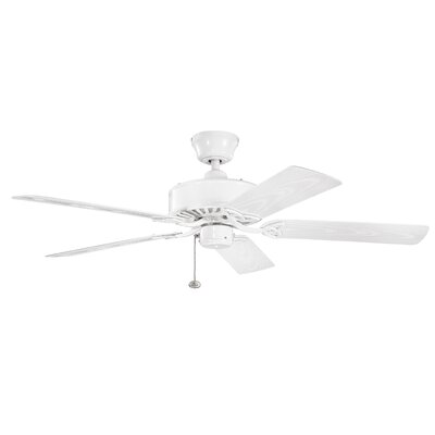 52 Borgen 5-Blade Ceiling Fan Finish: White with White Blades