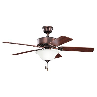 50 Renew Select 5-Blade Ceiling Fan Finish: Oil Brushed Bronze with Cherry/Walnut Blades
