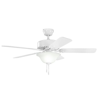 50 Borgen Traditional 5-Blade Ceiling Fan Finish: White with White Blades