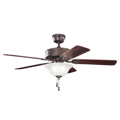 50 Borgen Traditional 5-Blade Ceiling Fan Finish: Tannery Bronze with Teak/Cherry Blades
