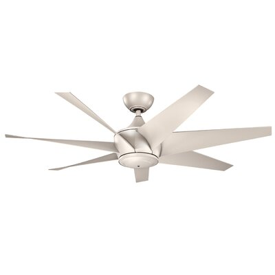 54 Lehr II 7 Blade Ceiling Fan Finish: Antique Satin Silver