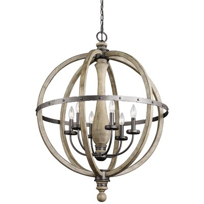Evan 6-Light Globe Pendant