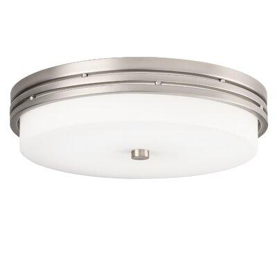 1-Light LED Flush Mount Finish: Brushed Nickel