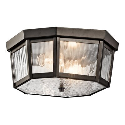 Woodlawn 2-Light Flush Mount Finish: Olde Bronze