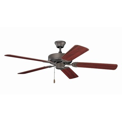 52 5-Blade Ceiling Fan Finish: Satin Natural Bronze