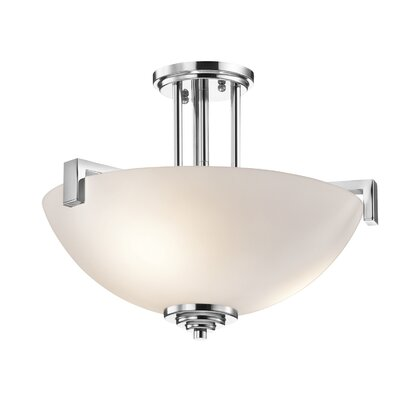 Misty 3-Light Semi Flush Mount Finish: Chrome