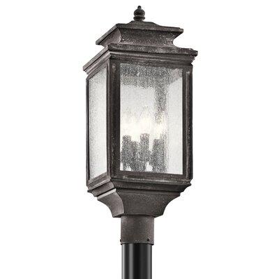 Wiscombe Park Collection Outdoor Post Mt. 4-Light WZC-Weathered Zinc