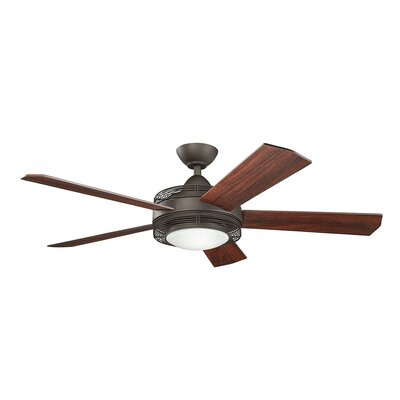 60 Enthrall 5-Blade Ceiling Fan Finish: Satin Natural Bronze