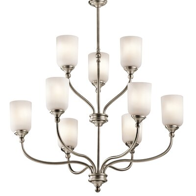Kayleigh 9-Light Shaded Chandelier Finish: Antique Pewter