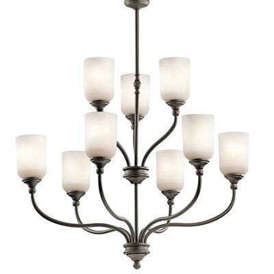 Lilah 9-Light Shaded Chandelier Finish: Olde Bronze