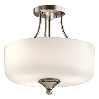 Kayleigh 2-Light Semi Flush Mount Finish: Antique Pewter