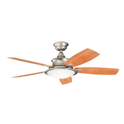 52 Cameron 5 Blade Ceiling Fan Finish: Brushed Nickel