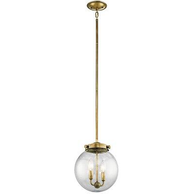 Holbrook 2-Light Globe Pendant Finish: Natural Brass