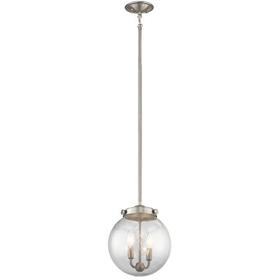 Phillipstown 2-Light Globe Pendant Finish: Brushed Nickel