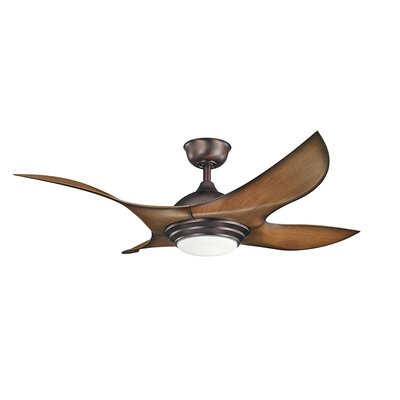 52 Dahlberg 4-Blade Ceiling Fan Finish: Oil Brushed Bronze with Walnut Shadowed Blades