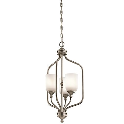 Kayleigh 3-Light Foyer Pendant Finish: Antique Pewter
