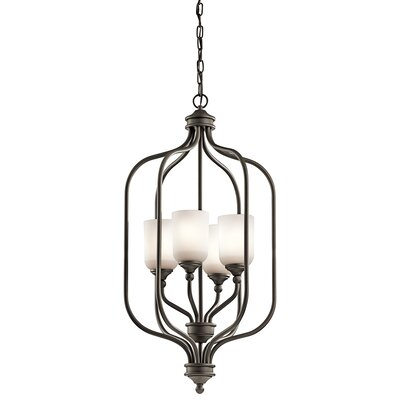 Kayleigh 4-Light Foyer Pendant Finish: Olde Bronze