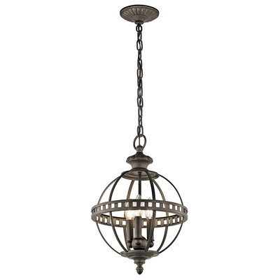 Halleron 3-Light Mini Pendant Finish: Olde Bronze