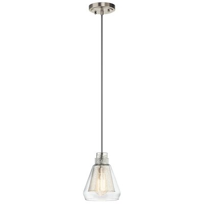Perot 1-Light Brushed Nickel Mini Pendant