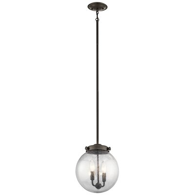 Holbrook 2-Light Globe Pendant Finish: Olde Bronze