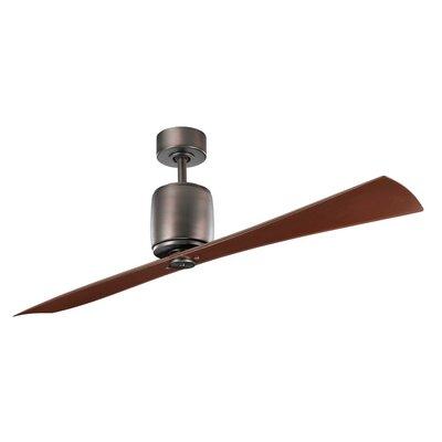 60 Ferron 2-Blade Ceiling Fan Finish: Oil Brushed Bronze with Oil Brushed Bronze Blades