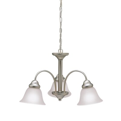 Wynberg 3-Light Shaded Chandelier Finish: Brushed Nickel