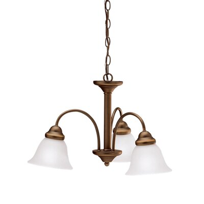 Wynberg 3-Light Shaded Chandelier Finish: Bronze