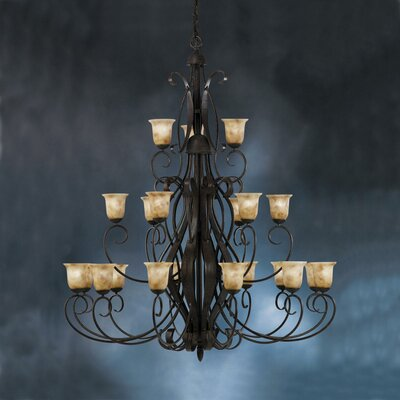 High Country Indoor 21 Light Chandelier