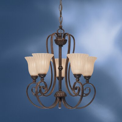 Bafford Traditional Metal 5-Light Shaded Chandelier