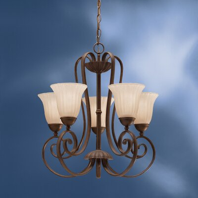 Bafford 5-Light Metal Shaded Chandelier